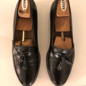 Bally Mens Leather Loafers with Tassel